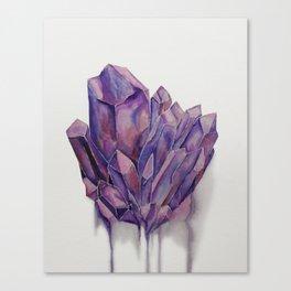 Purple Crystal Canvas Print