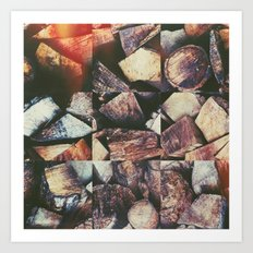 Wooden Squares Art Print