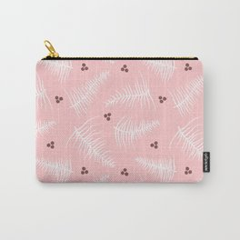 Fronds & Berries on Dusty Pink Carry-All Pouch