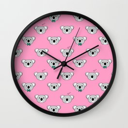 Koala Cuddles Wall Clock