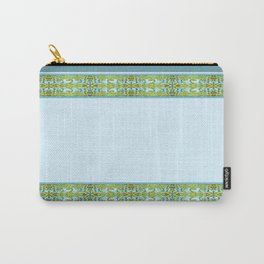 Abstract Waves - Grey and Gold Carry-All Pouch