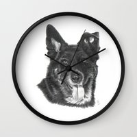raven Wall Clocks featuring Raven by Beth Thompson