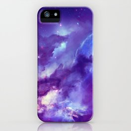 Magnificent Cosmic Nebulae Star Birth Violet Tint Ultra High Resolution iPhone Case