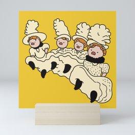 Piggy dancers Mini Art Print