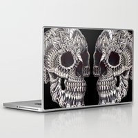 ornate Laptop & iPad Skins featuring Ornate Skull by BIOWORKZ