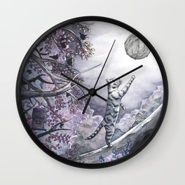 Playing with the moon Wall Clock