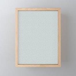 SILVER STARS CONFETTI Framed Mini Art Print