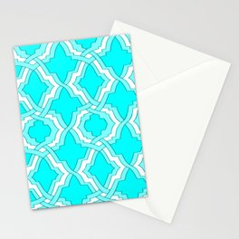 Grille No. 1 -- Cyan Stationery Cards
