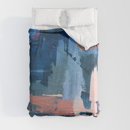 Rhythm of Rain: a modern abstract piece by Alyssa Hamilton Art in blues and pinks Comforters