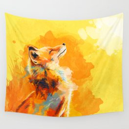 Blissful Light - Fox portrait Wall Tapestry