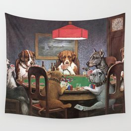 Dogs Playing Poker A Friend in Need Painting Wall Tapestry