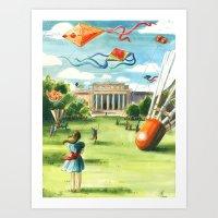 Flying Kites Art Print