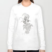 punk rock Long Sleeve T-shirts featuring traditional punk rock amoeba by Lanny Quarles