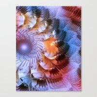 ferris wheel Canvas Prints featuring Ferris Wheel by Klara Acel