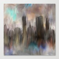 skyline Canvas Prints featuring Skyline by Rafael&Arty