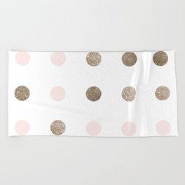 Blush Pink Modern Dots Beach Towel