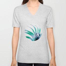 Colored Palm Leaf Unisex V-Neck