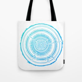 Quaking Aspen – Blue Ombré Tree Rings Tote Bag