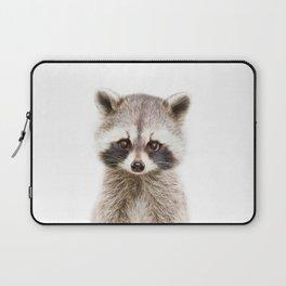 Baby Raccoon Portrait Laptop Sleeve