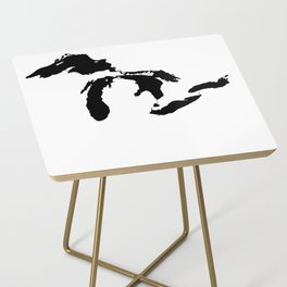 Map of the Great Lakes Side Table