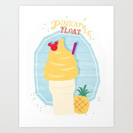 Pineapple Float (Dole Whip) Art Print