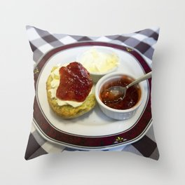 Cream tea for one Throw Pillow