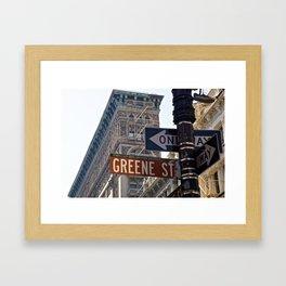 Streets of SoHo NYC Framed Art Print