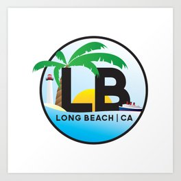 Long Beach CA Logo Design Art Print