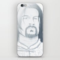 gondor iPhone & iPod Skins featuring Boromir of Gondor by Daniella Walker