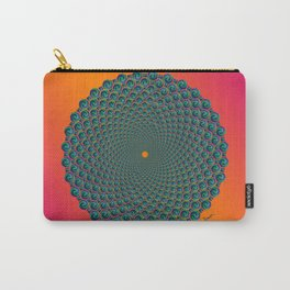Octagonal Peacock Feathers Carry-All Pouch