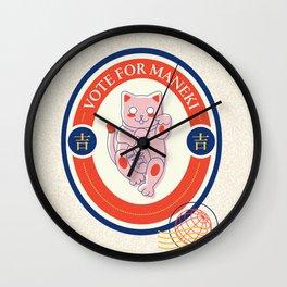 Maneki Wall Clock