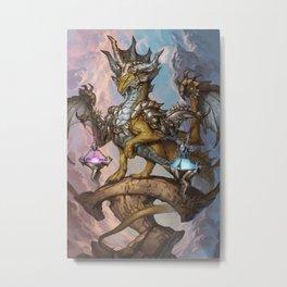 Zodiac Dragons Calendar Libra Metal Print
