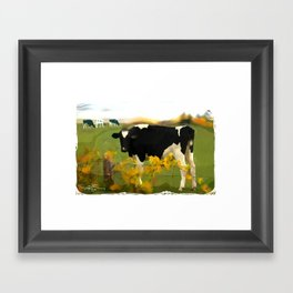 Cow Folk Framed Art Print