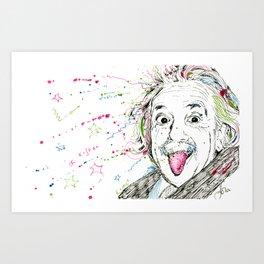 Einstein! Art Print