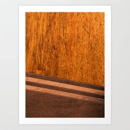 Wood and Leather Art Print