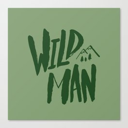 Wild Man x Green Canvas Print
