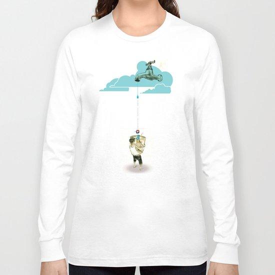 "Glue Network Print Series ""Water / Hygiene / Sanitation"" Long Sleeve T-shirt"
