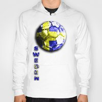 sweden Hoodies featuring Old football (Sweden) by seb mcnulty