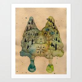Rabbit Love Art Print