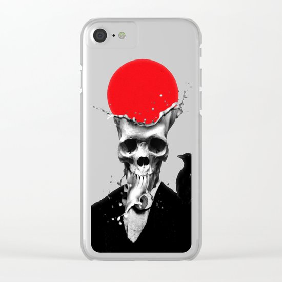 SPLASH SKULL Clear iPhone Case