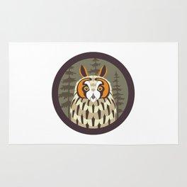 Long-eared Owl Rug