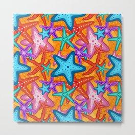 Starfish Pattern Design 2 Metal Print