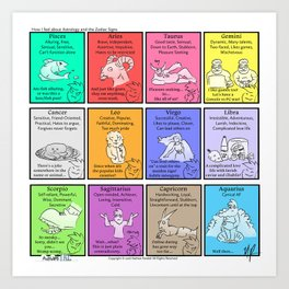 Zodiac (Awkward IRL #9) Art Print