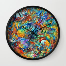Tropical Beach Art - Under The Sea - Sharon Cummings Wall Clock