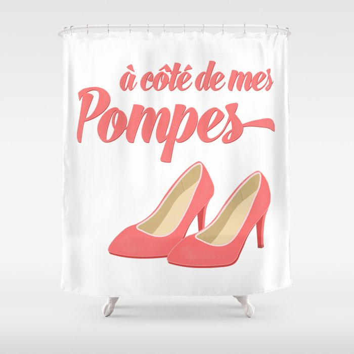French Pink High Heels Shower Curtain