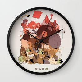 organic infographics Wall Clock