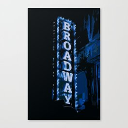 Broadway at Night Canvas Print
