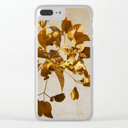 golden flowers Clear iPhone Case