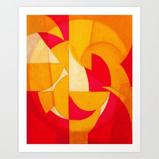Geometric Reconstruction 2 Art Print