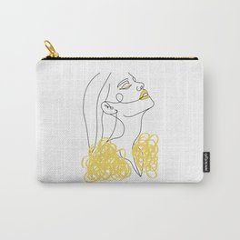Woman Line Art I Yellow Carry-All Pouch